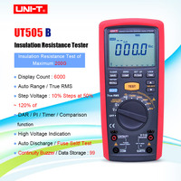 UNI T UT505B 1000V 200G ohm True RMS Handheld Digitale Megger Isolatieweerstand Meter Megohmmeter Multimeter-in Weerstandsmeters van Gereedschap op