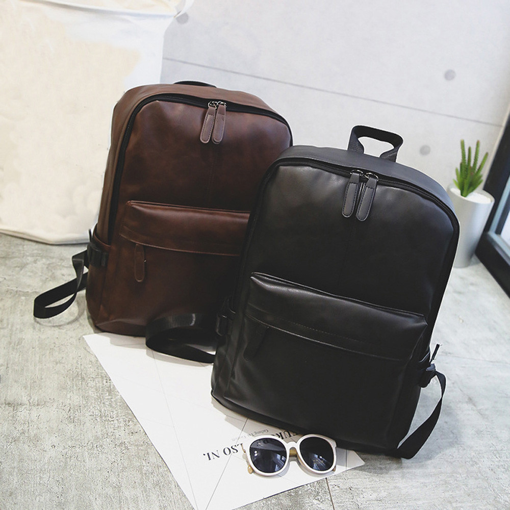 Unisex Leather Backpack Unisex Leather Casual Waterproof Backpack Travel Laptop Rucksack School Bag Suitable For All Ages
