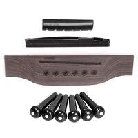 Portable 6-String Guitar Bridge Pins Saddle Nut Acoustic Guitar Accessories