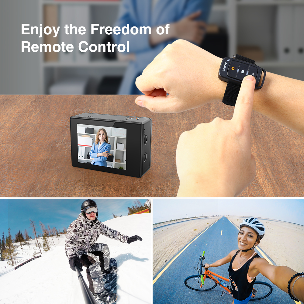 Clearance SaleThiEYE T5 Pro Real Ultra HD 4K 60fps Touch Screen WiFi Action Camera with Remote Control 60M underwater Web Camera