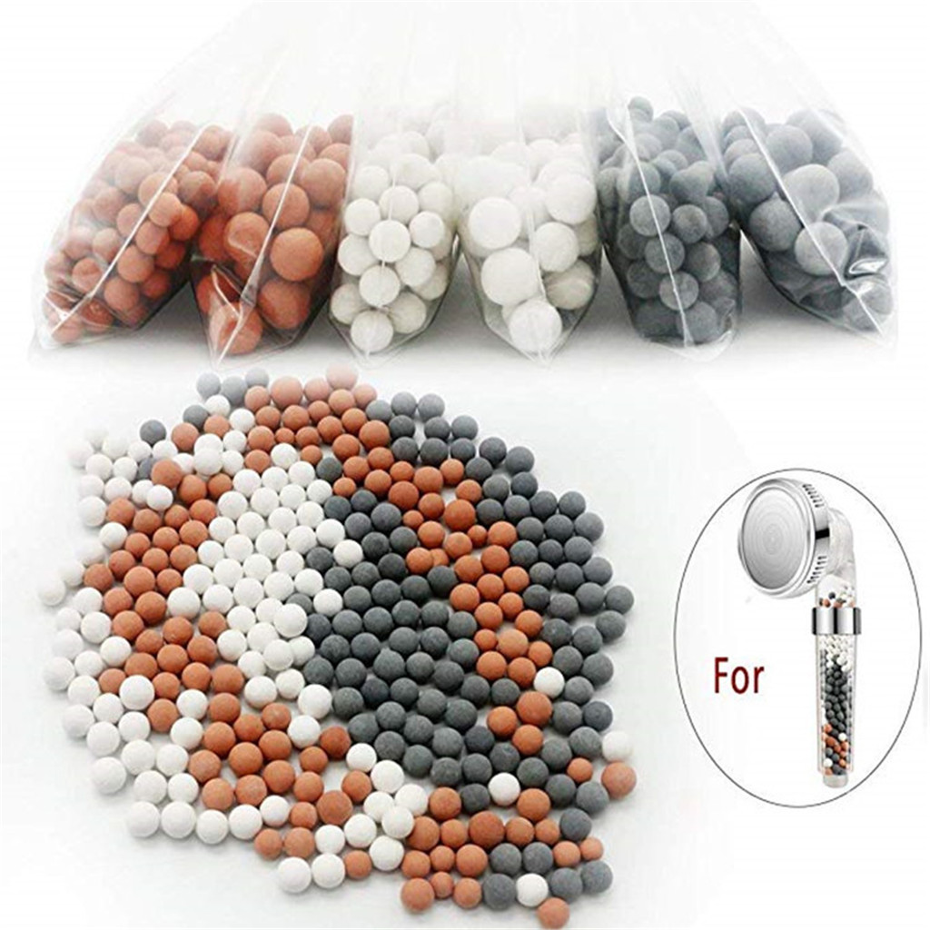 Shower Head Replacement Beads Water Purification Mineral Beads Negative Ions Ceramic Balls For Filter Shower Head Spray #LR3(China)