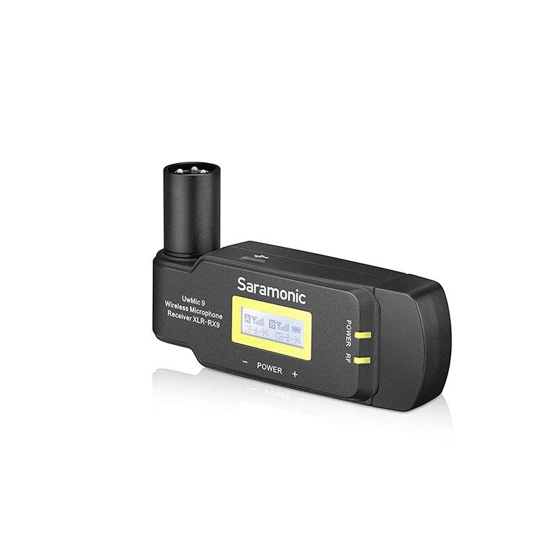 RX XLR9 камера беспроводной микрофонный приемник с XLR батарейным захватом для видео ТВ, DSLR видеокамера для полевой записи интервью ENG
