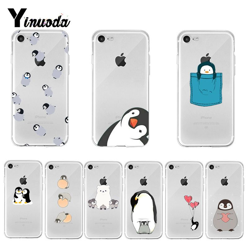 Yinuoda Cute Lovely Penguin Luxury Hybrid phone case for Apple iPhone 8 7 6 6S Plus X XS max 5 5S SE XR Cover image