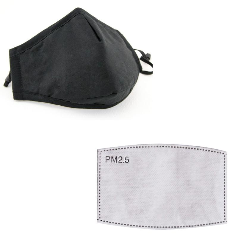 PM2.5 Pollution Filter Paper Anti Haze Anti Dust Mouth Mask Activated Carbon Proof Anti Fog Cotton Face Mask Motorcycle