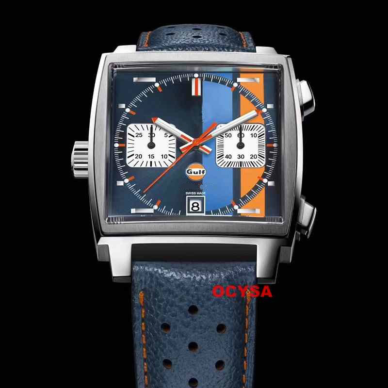 Blue Aaa Stainless Steel Quartz Chronograph Luxury Men Brand Designer Mens Watch Men Watches Masculino Wristwatches
