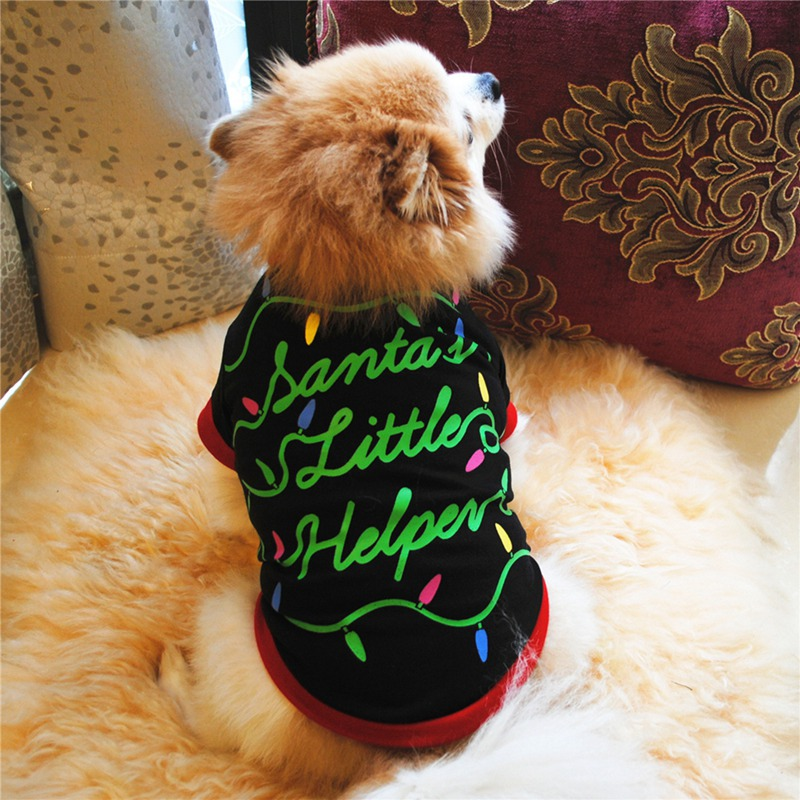 Christmas Dog Clothes For Small Dog Winter Pet Dog Coat  Print Clothes Puppy Outfit Vest Yorkie Chihuahua ClothesCM