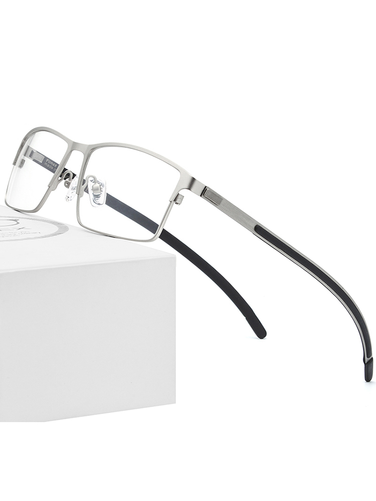Prescription Eyeglasses Optical-Glasses-Frame Square Myopia Ultralight Full-Screwless-Eyewear