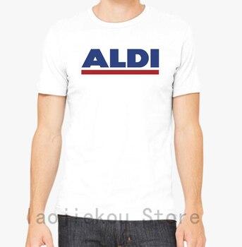 Camiseta Aldi para hombre y mujer, Camiseta de algodón con estampado divertido...