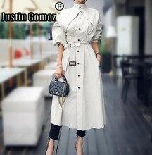 Streetwear 2019 Runway Fashion Women Trench coats With belts  Outwear Elegant office Lady overcoats