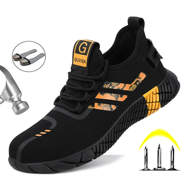 Work Safety Boots Mens Sneakers Breathable Safety Shoes Work Boots Men Puncture-Proof Indestructible Shoes With Steel Toe Shoes 5