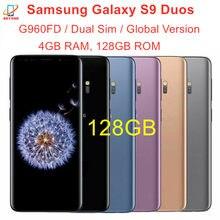 Samsung Galaxy S9 Duos G960FD çift Sim 128GB ROM 4GB RAM küresel sürüm Octa çekirdek 5.8