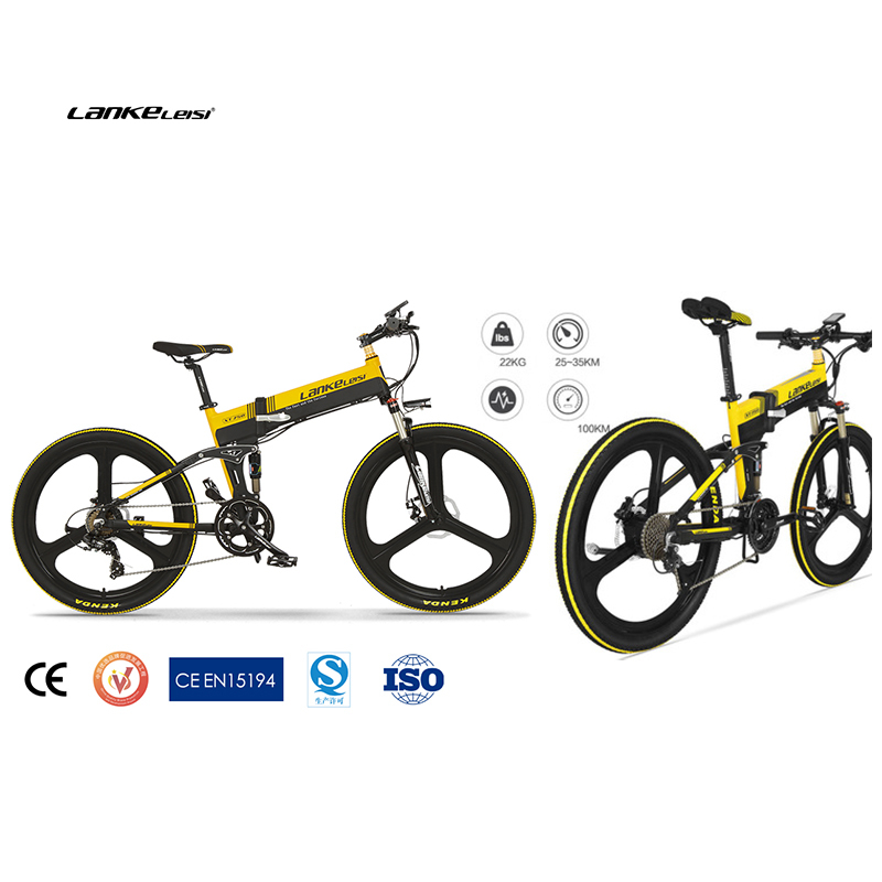 Lankeleisi 26'' Folding Ebike 400W electric mtb bike with 10AH  L G Battery 1