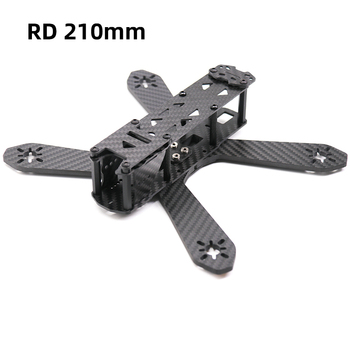TCMMRC 210mm Drone Frame RD210 Thickness 4mm Arm Carbon Fiber for FPV Racing Drone Quadcopter diy mini fpv f2 mito 210 pure carbon fiber 210mm frame unassembled for diy racing drone quadcopter