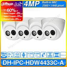 الجملة داهوا IPC HDW4433C A 4 قطعة POE شبكة كاميرا قبة صغيرة مع المدمج في مايكرو 4MP CCTV كاميرا 4 قطعة/الوحدة لنظام الدوائر التلفزيونية المغلقة