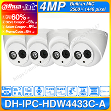 Wholesale Dahua IPC HDW4433C A 4PCS POE Network Mini Dome Camera With Built in Micro 4MP CCTV Camera 4pcs/Lot For CCTV System