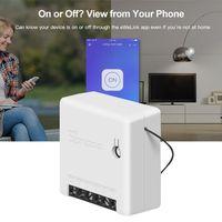 Sonoff MINI DIY akıllı anahtarı küçük WiFi anahtarı Alexa Google ev için uzaktan kumanda Alarm sistemi