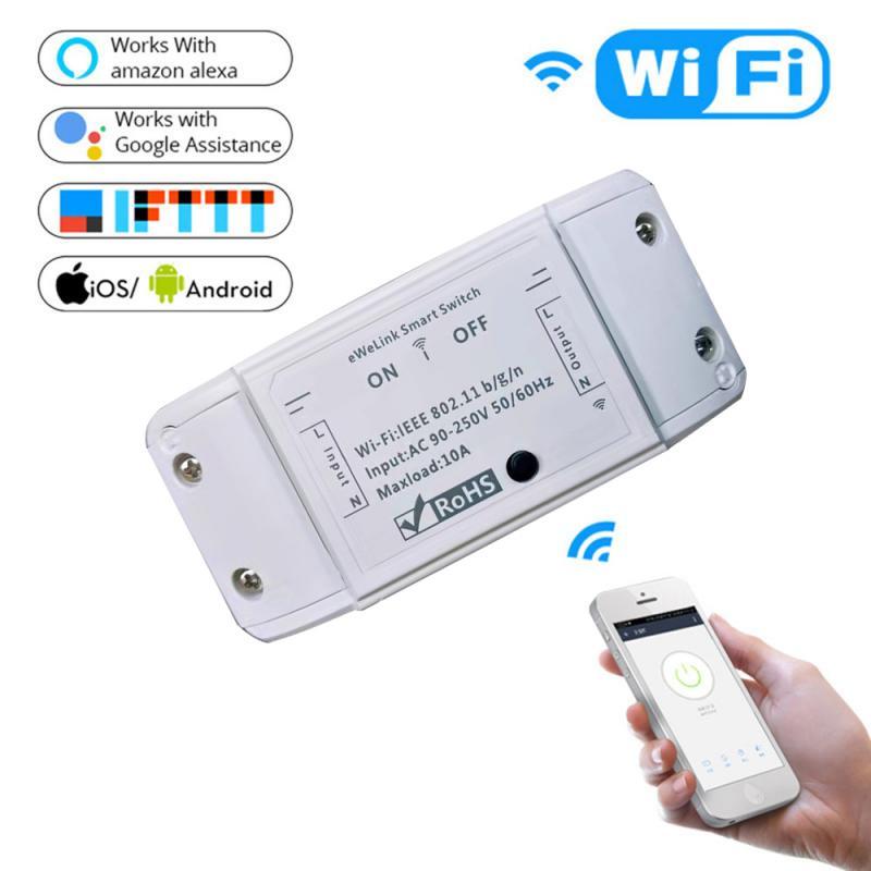 Умный выключатель с Wi-Fi, универсальный выключатель с таймером, работает с приложением EWelink, работает с Alexa Google Home