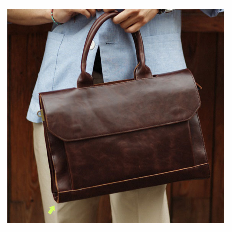 European And American Autumn Men 39 s Luxury Portable Messenger Bag PU Business Computer Briefcase Luxury Bag High Quality Bags in Top Handle Bags from Luggage amp Bags