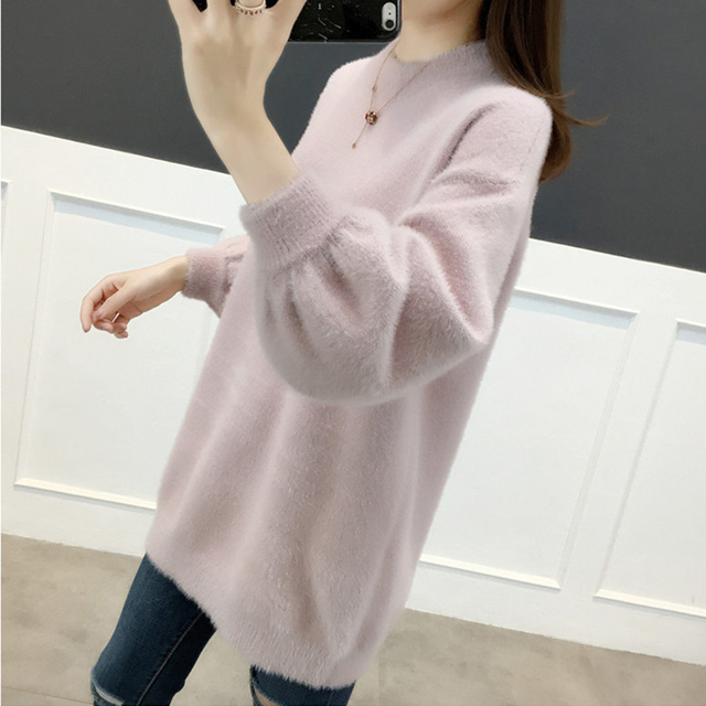 Ailegogo Women Sweater Spring Autumn Casual O Neck Knitted Pullovers Korean Style Long Sleeve Knitwear Female Tops 4