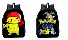 New Anime Pocket Monster Bag Cosplay pikachu Backpack Satchel Nylon Children Schoolbag Cute Cartoon Bags Zipper Purse Gifts(China)
