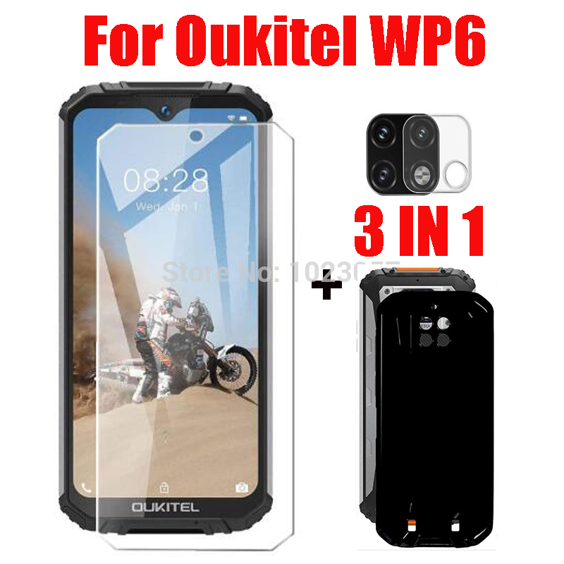 3-в-1 2.5D стекло + чехол для Oukitel WP6 защита экрана закаленное стекло для Oukitel WP6 стекло для камеры