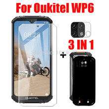 3-em-1 2.5d vidro + caso capa para oukitel wp6 protetor de tela de vidro temperado para oukitel wp6 câmera de vidro