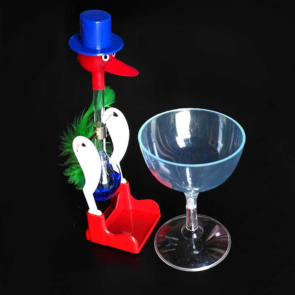 Creativo Immersione Perpetuo Movimento Giocattolo Non-Stop Liquido di Vetro Bere Fortunato Uccello Anatra Bobbing Magico Interattivo di Burla Del Giocattolo per del Capretto
