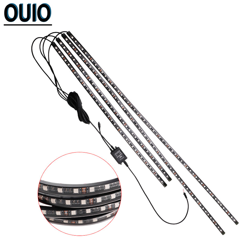 Image 5 - 4PCS/set 60/90cm 36/54 LED Car Strip Light 5050SMD Atmosphere Lights Dash Floor Foot Decorative Lamp Chassis Lights With Remote-in Decorative Lamp from Automobiles & Motorcycles
