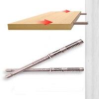 5 pezzi, di alta qualità resistente al muro invisibile chiodo fisso tavolo mensola staffa supporto nascosto supporto banco tavolo