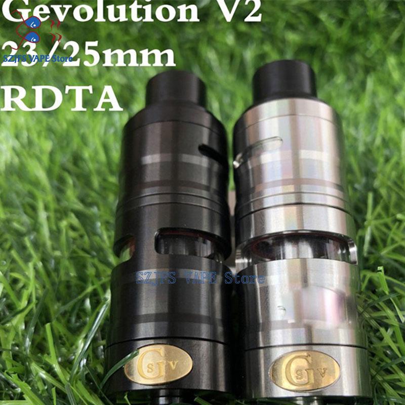 YFTK Gevolution V2 Style Mesh 23mm Rta 4ml Vape Tank For Mech Mod Electronic Cigarette Rebuildable Tank Vs LIMITLESSS XL TANK