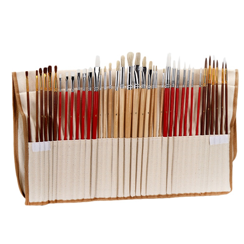 38 Pcs Face and Body Painting Paint Brushes Art Set for Acrylic Watercolor Oil Gouache