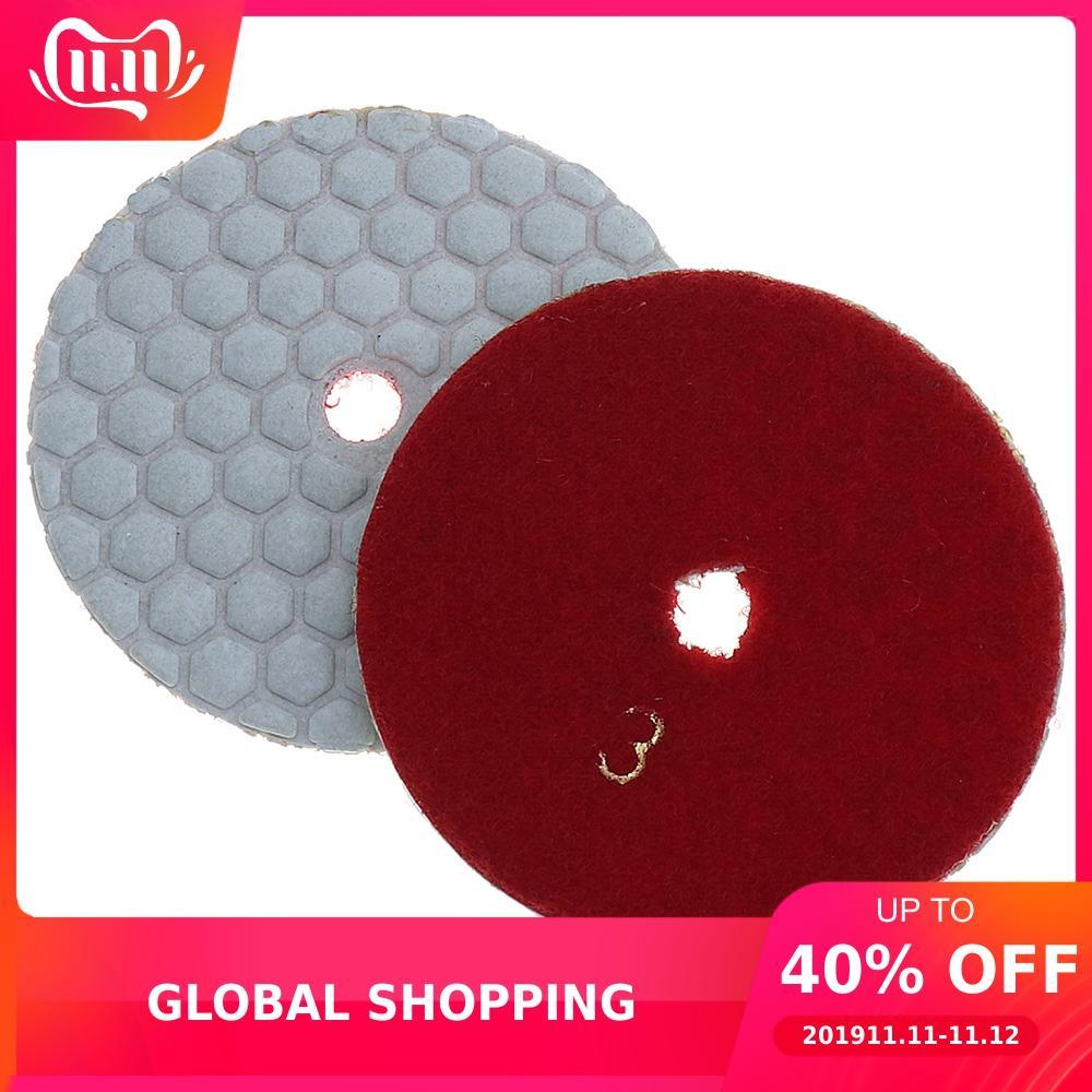 2pcs Diamond Dry Grinding Disc Polishing Pad For Granite /Marble Stone