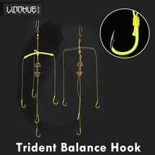 Fluorescent Trigeminal Balance Fish Hook Pole Fishhook Squid Fishing Group Explosion White Carp Tackle