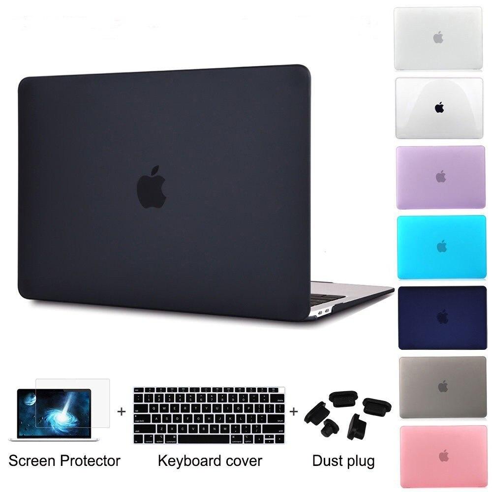 Redlai para 2016 novo macbook pro 13 15 com touchbar a1706 a1707 & ar 13 polegada pro 13 15 com retina de plástico fosco caso duro