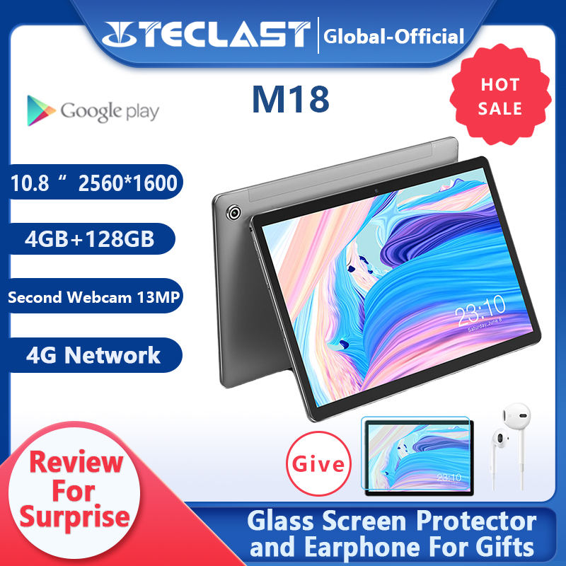 Teclast M18 планшет Deca Core 10,8 дюймов IPS 2560 × 1600 разрешение 4 Гб RAM 128 ГБ ROM 13MP задний 5MP передний 4G сетевой звонок