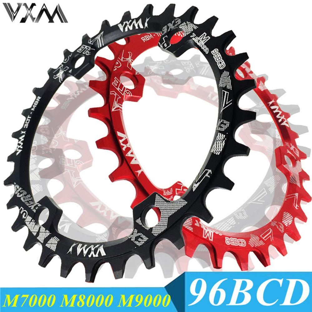 VXM Round/Oval 96BCD Chainring MTB Mountain BCD 96 bike bicycle <font><b>32T</b></font> 34T 36T 38T crankset Tooth plate Parts for M6000 M7000 M8000 image