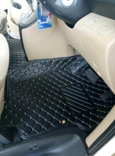 Bonne qualité! Tapis de sol de voiture sur mesure pour conduite à droite Hyundai Grand Starex 12 sièges 2019-2010 tapis imperméables
