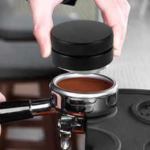 Черный кофе тампер пресс Плоская база 58 мм дистрибьютор инструменты