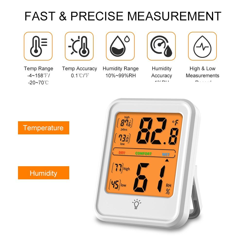 e umidade monitor com display lcd para estação meteorológica em casa