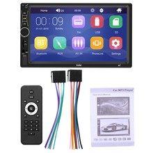 2 Din Car Radio 7 Inch MP5 Player Press Screen Digital Display Bluetooth Multimedia USB/DVR/FM/Mirror Link, A7(China)
