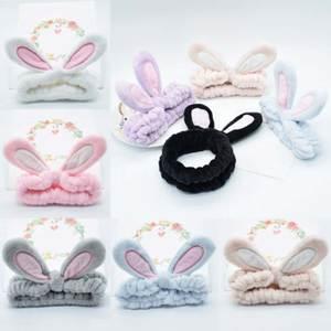 Headband Hair-Accessories Makeup-Tools Elastic Cute Rabbit-Ears Plush Girls Women Simple