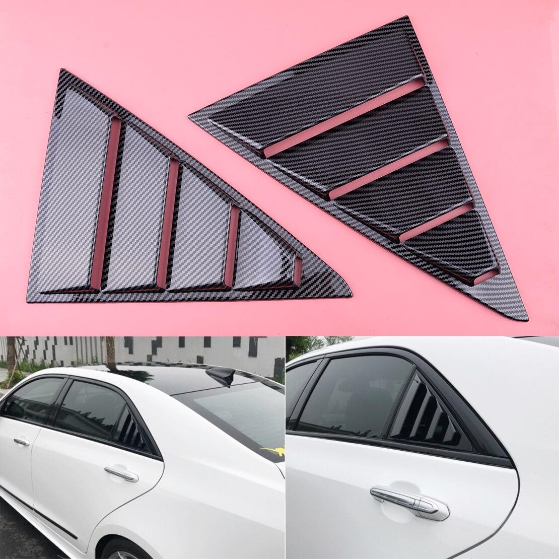 Carbon Fiber Black Car Side Vents Window Louver Shield Cover fit for Cadillac ATS ATS-L 2014 2015 2016 2017 2018 2019