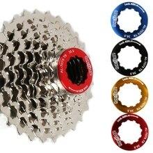 1 Pcs Flywheel Cover Flywheel Cap Aluminum Alloy Cassette Locking Ring For Mountain Road Bike Bicycle Locked Washer