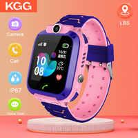 Astuto Della Vigilanza Bambini IP67 Impermeabile di Sport Intelligente Orologio Android Bambini SOS di Chiamata Smartwatch con la Macchina Fotografica di Carta di SIM di Tocco di HD