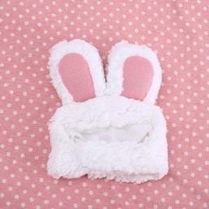 1 pc Cat Cap Costume Warm Rabbit Hat Funny Pet Dog New Year Party Christmas Cosplay Accessories Photo Props Headwear(China)
