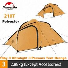 Naturehike אוהל Hiby סדרת קמפינג אוהל 3 4 אנשים חיצוני 20D סיליקון בד שכבה כפולה 4 עונה Ultralight משפחה אוהל