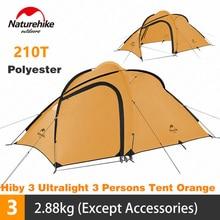 Naturehike Tent Hiby Serie Camping Tent 3 4 Personen Outdoor 20D Siliconen Stof Dubbele Laag 4 Seizoen Ultralight Familie tent
