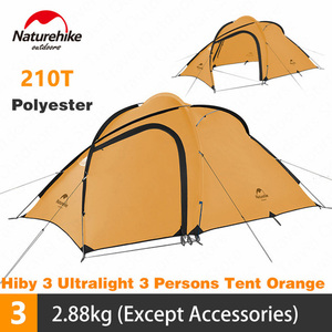Image 1 - Naturehike Tent Hiby Series Camping Tent 3 4 Persons Outdoor 20D Silicone Fabric Double layer 4 Season Ultralight Family Tent