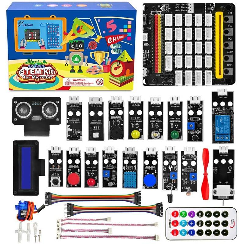 כרטיס גרפי OSOYOO STEM ערכת תכנות גרפי Starter עבור מיקרו BBC: קצת עם כרטיס הרחבה plug and play למתחילים וילדים (1)