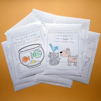 Dowiedz się angielskiego kolor słowo rysunek czytanie zrozumienie słowo klasie gra integracja skoroszyt klasie nauczanie czytania książek tanie i dobre opinie HAPPY MONKEY 3 lat CN (pochodzenie) Papier A4 (21*29 7cm) coloring books for kids English Books for Children kid book english